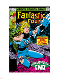 Fantastic Four No.245 Cover: Invisible Woman Crouching Plastic Sign by John Byrne