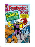 The Fantastic Four No.30 Cover: Mr. Fantastic Plastic Sign by Jack Kirby
