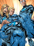 Ultimate Fantastic Four No.41 Group: Human Torch, Mr. Fantastic, Invisible Woman and Thing Plastic Sign by Mark Brooks