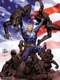 Steve Rogers: Super-Soldier No.2 Cover: Steve Rogers Plastic Sign by Carlos Pacheco