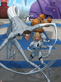 Fantastic Four No.603 Cover: Mr. Fantastic, Invisible Woman, Thing Plastic Sign by Mike Choi