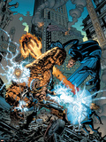 Marvel Knights 4 No.18 Cover: Ramades, Mr. Fantastic, Invisible Woman, Human Torch and Thing Plastic Sign by Jim Muniz