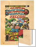 Captain America And The Falcon No.203 Cover: Captain America, Falcon, Marvel Comics and Thor Wood Print by Jack Kirby