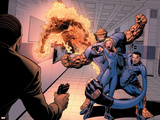 Dark Reign: Fantastic Four No.4 Group: Invisible Woman, Thing, Mr. Fantastic and Human Torch Plastic Sign by Sean Chen
