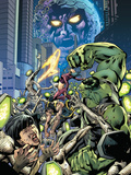 Fantastic Force No.3 Cover: Ego, Hulk and Wolverine Posters by Bryan Hitch
