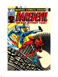 Daredevil No.161 Cover: Daredevil, Bullseye and Black Widow Wall Decal by Frank Miller