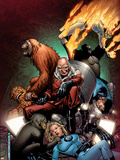 Fantastic Four: Foes No.5 Cover: Red Ghost, Thing, Mr. Fantastic, Invisible Woman and Human Torch Plastic Sign