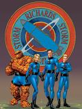 Fantastic Four No.527 Cover: Thing, Mr. Fantastic, Human Torch and Invisible Woman Plastic Sign by Mike McKone