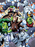 She-Hulks No.4: She-Hulk and Lyra Falling Plastic Sign by Ryan Stegman