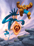 Ultimate Fantastic Four No.6 Cover: Thing Plastic Sign by Dale Keown