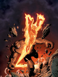 Marvel Knights 4 No.3 Cover: Human Torch and Thing Plastic Sign by Steve MCNiven