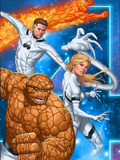 Fantastic Four No.604 Cover: Thing, Invisible Woman, Mr. Fantastic, and Human Torch Plastic Sign by Mike Choi
