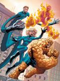 Marvel Age Fantastic Four No.4 Cover: Mr. Fantastic Plastic Sign by Makoto Nakatsuka
