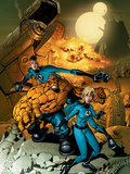 Fantastic Four No.523 Cover: Mr. Fantastic, Invisible Woman, Thing, Human Torch and Fantastic Four Plastic Sign by Mike Wieringo