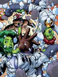 She-Hulks No.4: She-Hulk and Lyra Falling Wall Decal by Ryan Stegman