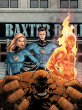 Marvel Knights 4 No.11 Cover: Mr. Fantastic, Invisible Woman, Human Torch, Thing and Fantastic Four Plastic Sign by Steve MCNiven