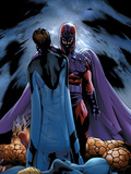 Ultimate Fantastic Four No.22 Cover: Magneto and Mr. Fantastic Poster by Greg Land