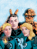 Fantastic Four Volume 3 No.50 Cover: Thing, Mr. Fantastic, Human Torch and Invisible Woman Plastic Sign by Barry Windsor-Smith