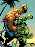 Tales Of The Thing No.2 Cover: Thing and Hulk Fighting Plastic Sign by Randy Green