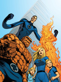 Fantastic Four No.570 Cover: Thing, Invisible Woman, Human Torch and Mr. Fantastic Posters by Dale Eaglesham