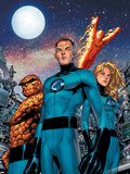 Fantastic Four No.525 Cover: Human Torch, Thing, Mr. Fantastic and Invisible Woman Plastic Sign by Tom Grummett