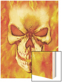 Ghost Rider No.15 Headshot: Ghost Rider Wood Print by Mark Texeira