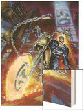 Ghost Rider Annual No.2 Cover: Ghost Rider Wood Print by Mark Texeira