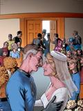Fantastic Four: The Wedding Special No.1 Cover: Mr. Fantastic Plastic Sign