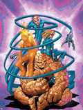 Marvel Age Fantastic Four No.3 Cover: Thing Plastic Sign by Makoto Nakatsuka
