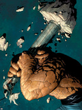 Marvel Knights 4 No.2 Cover: Thing Plastic Sign by Steve MCNiven