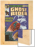 Ghost Rider No.35 Cover: Ghost Rider Wood Print by Bob Budiansky