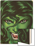 She-Hulk No.25 Cover: She-Hulk Wood Print by Shawn Moll