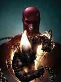 Shadowland: Ghost Rider No.1 Cover: Ghost Rider and Daredevil Posing Plastic Sign by Clayton Crain