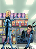 Marvel Adventures Fantastic Four No.40 Cover: Invisible Woman and Mr. Fantastic Posters by Clayton Henry