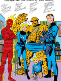 Fantastic Four No.250: Mr. Fantastic, Invisible Woman, Human Torch, Thing, Richards and Franklin Art by John Byrne
