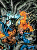 Marvel Adventures Fantastic Four No.6 Cover: Mr. Fantastic Plastic Sign by Carlo Pagulayan