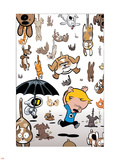 Franklin Richards: Its Dark Reigning Cats & Dogs No.1 Cover: Richards and Franklin Wall Decal by Chris Eliopoulos