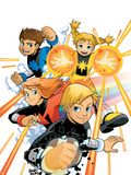 Power Pack No.1 Cover: Zero-G, Lightspeed, Mass Master and Energizer Plastic Sign by  Gurihiru