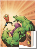 Marvel Adventures Hulk No.9 Cover: Hulk and Doc Samson Wood Print by Steve Scott