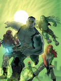World War Hulk: Gamma Corps No.1 Cover: Griffin, Prodigy, Mess, Mr. Gideon and Grey Plastic Sign by Stephane Roux