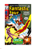 Fantastic Four No.105 Cover: Mr. Fantastic Plastic Sign by John Romita Sr.