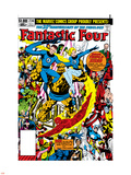 Fantastic Four No.236 Cover: Thing, Mr. Fantastic, Invisible Woman and Human Torch Plastic Sign by John Byrne