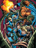 Fantastic Four No.565 Cover: Thing Plastic Sign by Bryan Hitch