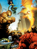 Fantatic Four: House Of M No.1 Cover: Fantastic Four Art by Scot Eaton