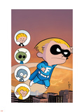 Franklin Richards: Sons Of Geniuses No.1 Cover: Richards and Franklin Plastic Sign by Chris Eliopoulos
