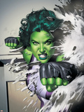 She-Hulk No.5 Cover: She-Hulk Plastic Sign by Adi Granov