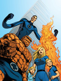 Fantastic Four No.570 Cover: Thing, Invisible Woman, Human Torch and Mr. Fantastic Plastic Sign by Dale Eaglesham