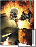 Ghost Rider No.8 Cover: Ghost Rider Flaming Posters av Matt Clarke