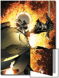 Ghost Rider No.8 Cover: Ghost Rider Flaming Prints by Matt Clarke