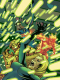 Fantastic Four No.530 Cover: Mr. Fantastic, Invisible Woman, Human Torch, Thing and Fantastic Four Plastic Sign by Mike McKone